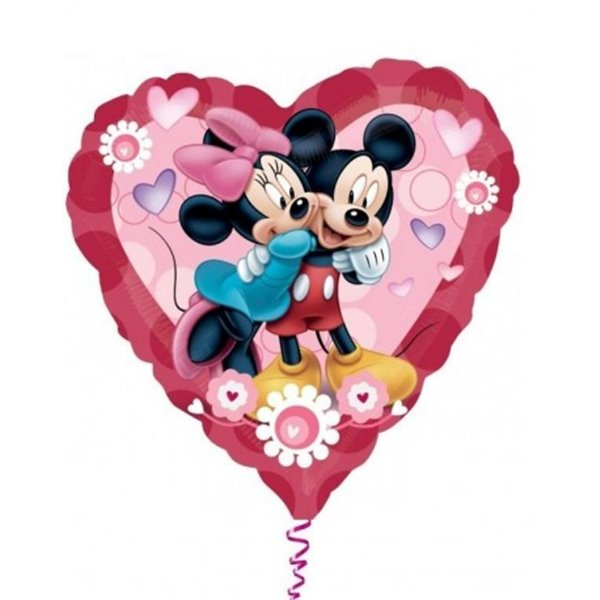 Balon Mickey & Minnie  Heart BIG