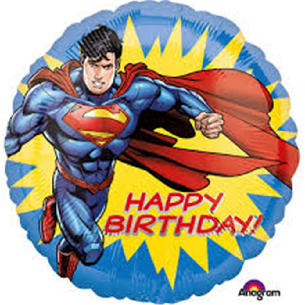 "Balon Anagram 18"" Superman Happy Birthday 3553101"